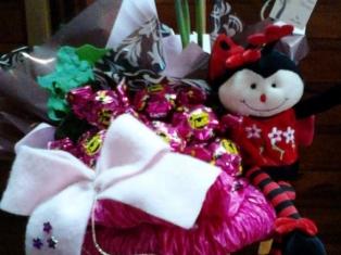 Caixa Flor com Pelúcia e Bombons